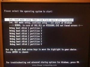 usb XP instalacijsku menu